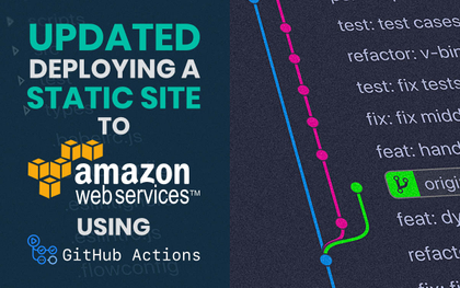 featured image thumbnail for post UPDATED: Deploying a static site to AWS using GitHub Actions
